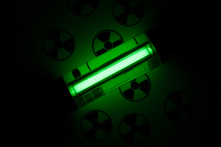 irradiated: Radioactive glow GTLS - gaseous tritium light source