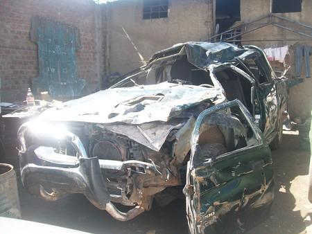 overturned: overturned truck