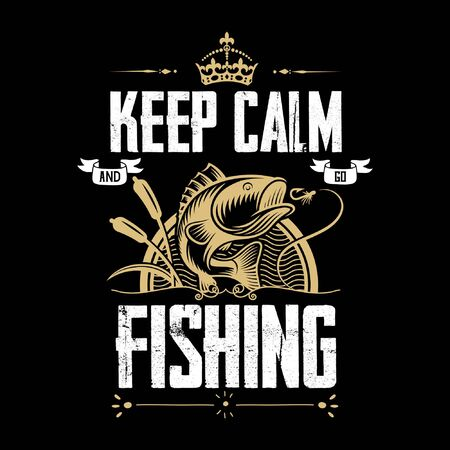 Keep Calm And Go Fishing Tee.This shirt is perfect for those who love Fishing.