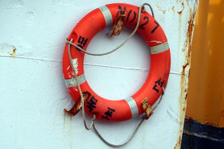 preserver: Boat life preserver Stock Photo