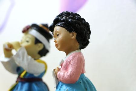 hanbok: Dolls dressed in hanbok
