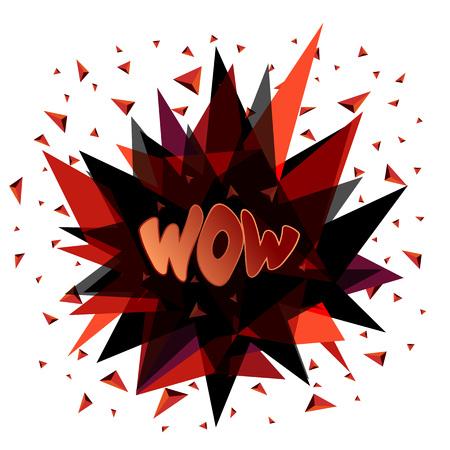 Wow, emotion, surprise delight joy Vector illustration Illustration