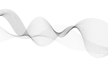 Abstract wave element for design. Digital frequency track equalizer. Stylized line art background. Vector illustration.