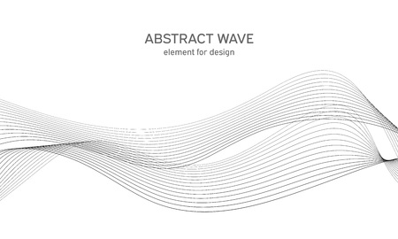 Abstract wave element for design. Digital frequency track equalizer. Stylized line art background. Illustration