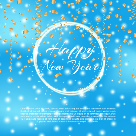 Happy new year 2018 background with bokeh effect.