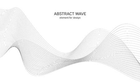 Abstract wave element for design.
