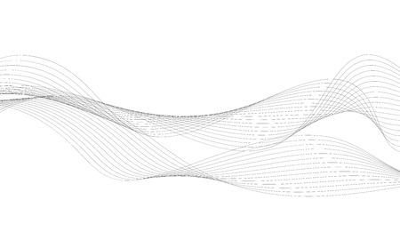 Élément vague abstrait pour la conception. Égaliseur de piste de fréquence numérique. Fond d'art ligne stylisée. Illustration vectorielle Wave avec des lignes créées à l'aide de l'outil de fusion. Ligne ondulée incurvée, rayure lisse