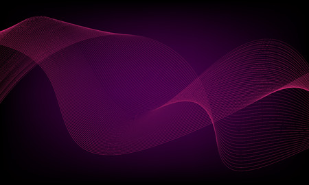 Abstract wave element for design. Digital frequency track equalizer. Stylized line art background. Colorful shiny wave with lines created using blend tool. Curved wavy line, smooth stripe Illusztráció