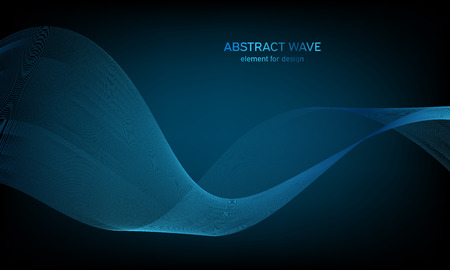Abstract wave element for design. Digital frequency track equalizer. Stylized line art background. Colorful shiny wave with lines created using blend tool. Curved wavy line, smooth stripe 版權商用圖片 - 109719240