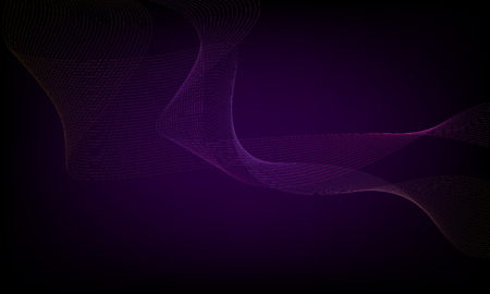 Abstract wave element for design. Digital frequency track equalizer. Stylized line art background. Colorful shiny wave with lines created using blend tool. Curved wavy line, smooth stripe 版權商用圖片