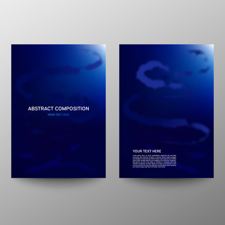 Brochure design a4. Abstract composition. Information banner. A set of page. Modern vector page. Color image. Ad flange. Halftone Ilustrace