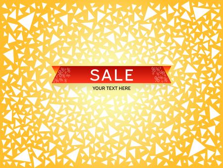 Sale Poster Banner. Big sale, clearance Vector illustration Ilustrace