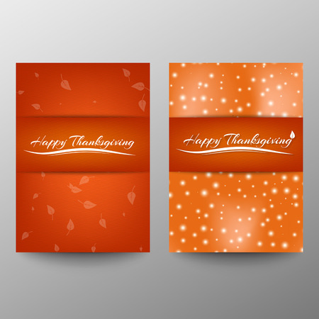 Happy Thanksgiving banner. Invitation design for a Thanksgiving dinner or party. Vector template, can be used for poster, banner, flyer, invitation, greeting card, menu. Vector Ilustrace