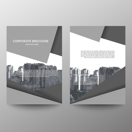 Annual report brochure flyer design template vector, Leaflet cover presentation abstract flat background, layout in A4 size.