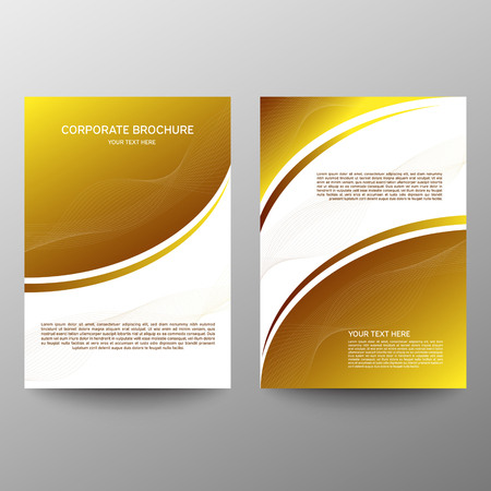 Brochure design a4. Abstract composition. Information banner. A set of page. Modern vector page. Ad flange. Abstract wave element for design