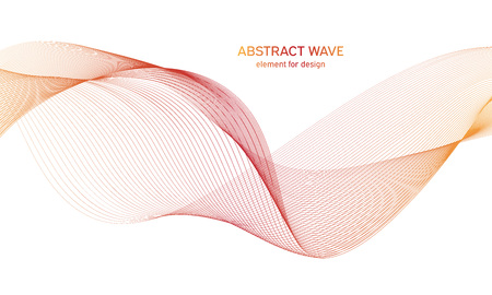 Abstract colorfull wave element for design. Digital frequency track equalizer. Stylized line art background.Vector illustration.Wave with lines created using blend tool.Curved wavy line,smooth stripe 免版税图像 - 123469281