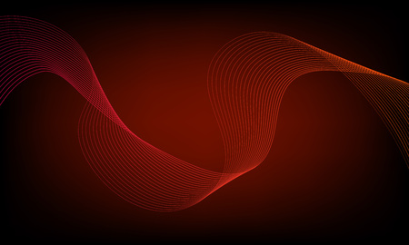 Abstract wave element for design. Digital frequency track equalizer. Stylized line art background. Colorful shiny wave with lines created using blend tool. Curved wavy line, smooth stripe