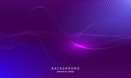 Abstract wave element with perspective mesh with depth of field effect for design. Grid. Digital equalizer. Stylized line art background. Colorful shiny waves with lines. Curved wavy line. Vector illustration