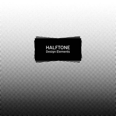 Circle halftone element, monochrome abstract graphic, prepress or generic concepts. Dotted gradient vector illustration 일러스트