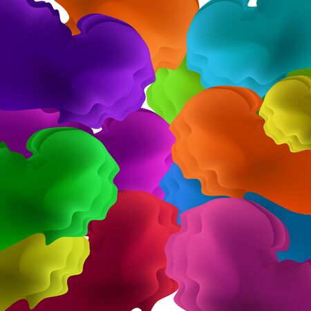 Colorful wave. Vector background Illustration