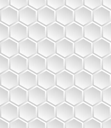 Grey seamless honey combs geometric pattern. Hexagonal texture honeycomb. Honeyed grid. Vector illustration background.