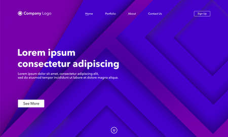Asbtract background website Landing Page. Template for websites, or apps. Modern design. Abstract vector style