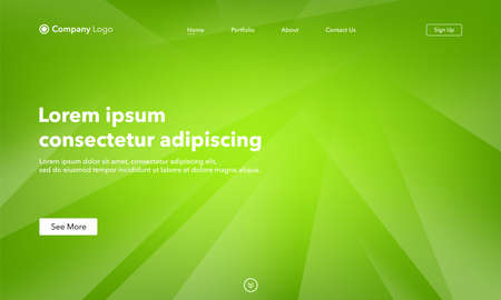 Asbtract background website Landing Page. Template for websites, or apps. Green. Modern design. Abstract vector style