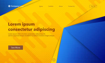 Abstract background website Landing Page. Template for websites, or apps. Modern design. Abstract vector style Vettoriali