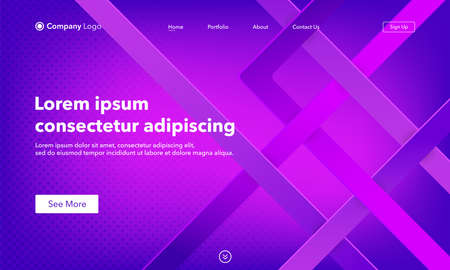 Abstract background website Landing Page. Template for websites, or apps. Modern design. Abstract vector style 向量圖像