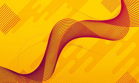 Minimal geometric abstract background. Bright design texture. Dynamic shapes composition. Yellow. Vector illustration