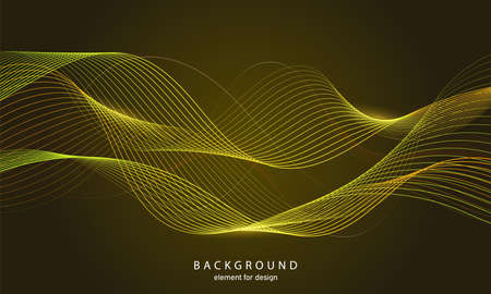 Abstract wave background. Element for design. Digital frequency track equalizer. Stylized line art. Colorful shiny wave with lines created using blend tool. Curved wavy line smooth stripe Vector illustration. 向量圖像