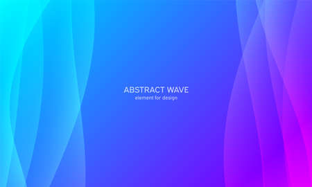 Abstract wave element for design. Blue. Digital frequency track equalizer. Stylized line art background. Colorful shiny wave with lines created using blend tool. Curved wavy line, smooth stripe Vector illustration Vectores