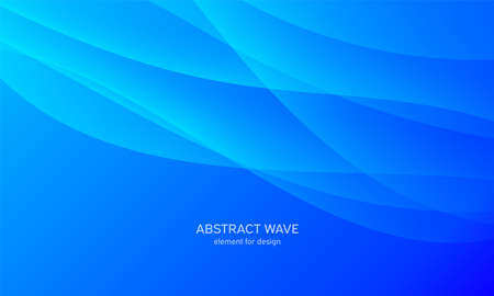 Abstract wave element for design. Blue. Digital frequency track equalizer. Stylized line art background. Colorful shiny wave with lines created using blend tool. Curved wavy line, smooth stripe Vector illustration 向量圖像