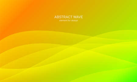 Abstract wave element for design. Green. Digital frequency track equalizer. Stylized line art background. Colorful shiny wave with lines created using blend tool. Curved wavy line, smooth stripe Vector illustration
