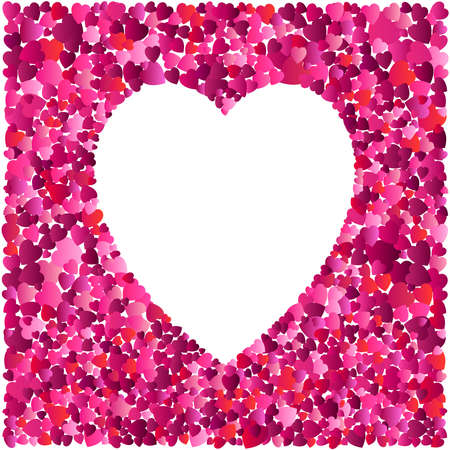 Valentines day heart. Decorative heart background with lot of valentines hearts. Love. Vector illustration