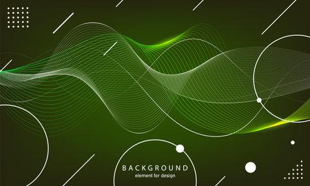 Abstract wave background. Element for design. Digital frequency track equalizer. Stylized line art. Curved wavy line smooth stripe Vector illustration. Ilustração