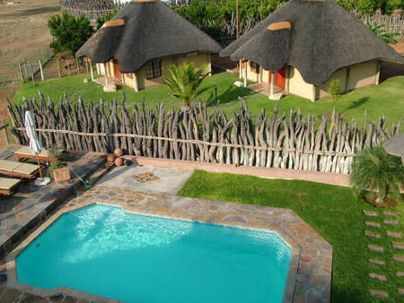 A Lodge with its Pool in Namibia photo