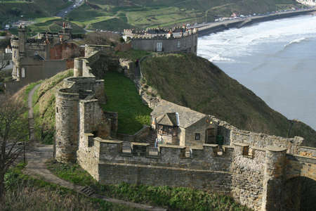 From the walls of Scarborough Castle in Yorkshire Great Britain photo