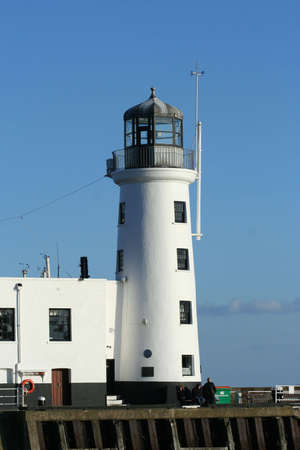 Scarborough Lighthouse in Yorkshire Great Britain photo