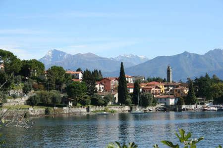 A small village along Lake Como in Italy photo
