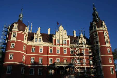 restauration: Castle in Bad Muskau in Germany  Editorial