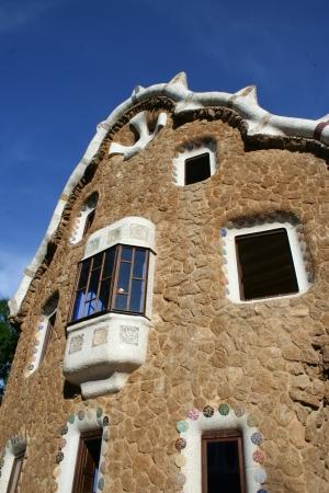Facade of Gaudi Architecture in Barcelona