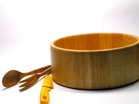 Utensilios de cocina de madera que se utiliza para cocinar alimentos frescos  Foto de archivo - 7950067