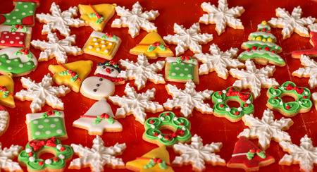 gingerbread cookies: decoration cookies, christmas gingerbread Stock Photo