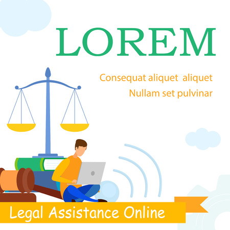 Lawyer School, Law Practice Web Banner Template. Jurisprudence Consulting, Legal Advice, Support, E-learning Web Banner. Attorney Answers Clients Questions Online Cartoon Character