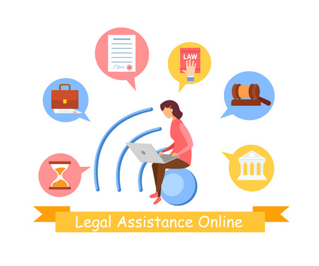 Consumer, Social Law Service Web Banner Template. Female Legal Assistant, Lawyer Cartoon Vector Character. Jurisprudence Science Teacher, Tutor, University Faculty Student Preparing for Lesson