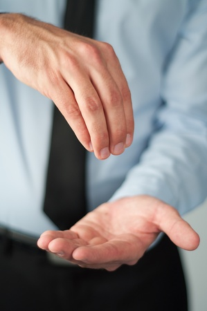 business man gesturing with his hands Stock Photo - 11272463