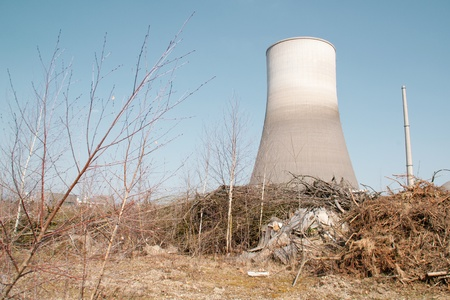 nuclear power plant in the wasteland photo