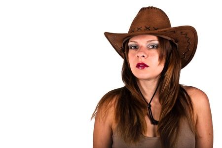 sexy young woman with cowboy hat Stock Photo - 11272456