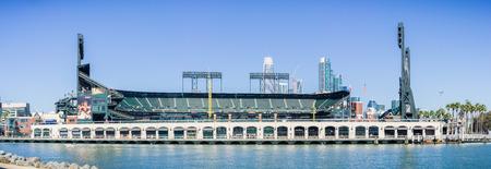 ballpark: October 7, 2017 San FranciscoCAUSA - AT&T Park baseball arena on the waterfront